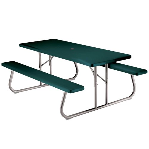 Learn More About Lifetime 22123 Folding Picnic Table / Bench, 6 Feet, Hunter Green