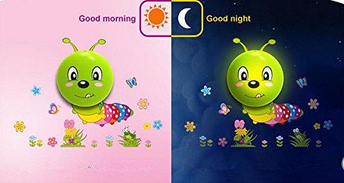 3d LED Wall Sticker Night Light DIY Mural Kids Nursery Bedroom Decoration Lamp