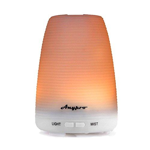 エニープロ (Anypro) アロマディフューザー 加湿器 超音波式 多色変換LED付き アロマテラピー 空焚き防止機能搭載 時間設定 部屋 会社 ヨガなど用 LM-008