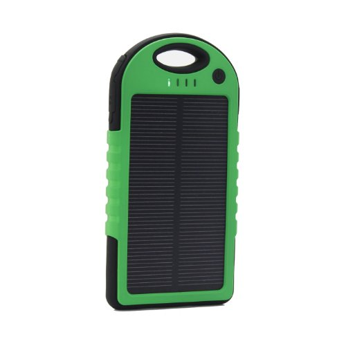 Expower(R) Solar Panel Waterproof Shockproof Charger 5000Mah Portable Charger Backup External Battery Power Pack For Iphone 5S 5C 5 4S 4, Ipad Air, Other Ipads, Ipods(Apple Adapters Not Included), Samsung Galaxy S4, S3, S2, Note 3, Note 2, Most Kinds Of A