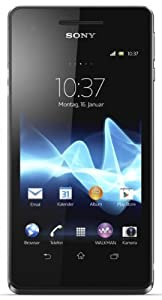 Sony Xperia V Smartphone (10,9 cm (4,3 Zoll) Touchscreen, Qualcomm Krait, Dual-Core, 1,5GHz, 1GB RAM, 8GB HDD, 13 Megapixel Kamera, Android 4.0) schwarz