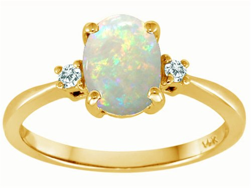 DIAMOND AND OPAL ENGAGEMENT RINGS : DIAMOND AND OPAL