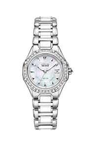 Citizen Women's EW2190-59D The Signature Collection Eco-Drive Octavia Ceramic Diamond Watch