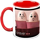 HomeSoGood Friends Forever In My Heart White Ceramic Coffee Mug - 325 Ml