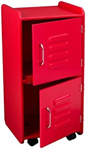 Amazoncom kidkraft locker medium red toys games for Kidkraft lantern floor lamp