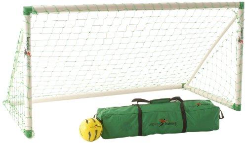 Precision Fussball Kinder Freizeit Goal Fußballtor, Tragbar, für den Garten, Weiß, 8 X 4 Ft