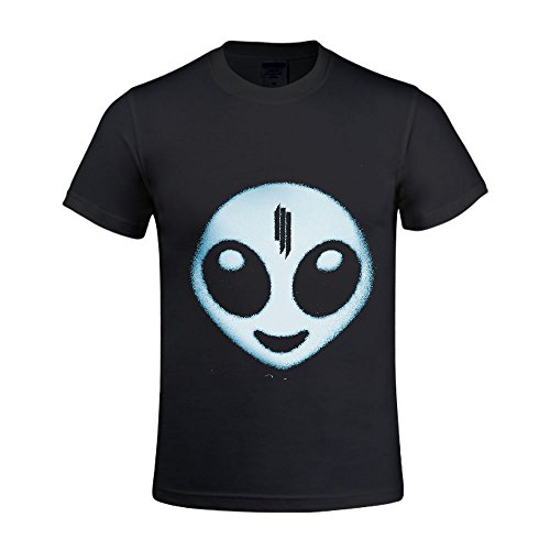 Skrillex Recess Men Shirt Crew Neck Printed Black