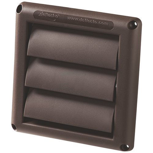 Deflect o hs3b 48 3 brown supurr vent louvered hood for 3 bathroom exhaust vent