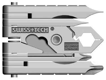 Swiss+Tech ST53100 Micro-Max 19-in-1 Key Ring Multi-Function