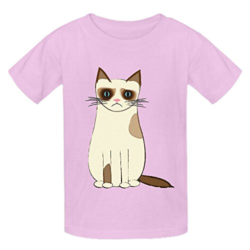 Chas Grumpy Cat 4pv Unisex Crew Neck Personalized Tee Pink (Peter Pan Pillow Pet compare prices)