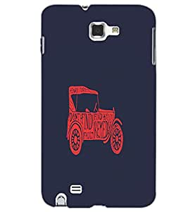 SAMSUNG GALAXY NOTE 2 VINTAGE Back Cover by PRINTSWAG