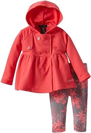 (新品)Calvin Klein 女婴2件套 Infant Jacket With Printed Pant$18.38