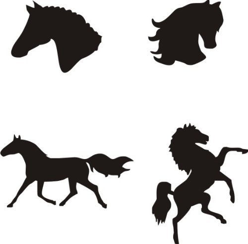 eulenspiegel selbstklebe tattoo schablonen set pferde. Black Bedroom Furniture Sets. Home Design Ideas