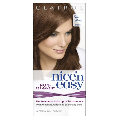 Nice 'N Easy By Lasting Colour Non Permanent Hair Colourant 94 Light Caramel Brown (Pack of 3)