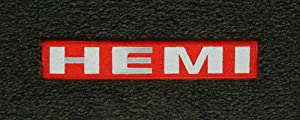 Logo 1990-1994 Chrysler LeBaron Sedan Mid-level Custom 4 Pc Car Mat Set Mid-Level Cruiser Mat Color: Tan Mat Logo: Hemi Logo Applique - Silver Letters Red Background