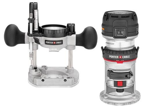 PORTER-CABLE 450PK 1.25 HP Compact Router Fixed/Plunge Combo Kit
