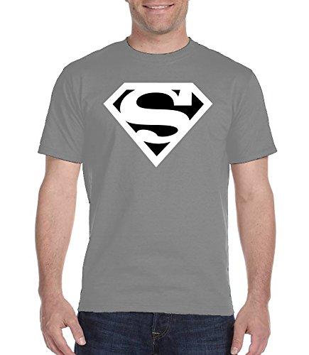 Youth Designz -  T-shirt - Collo a U  - Maniche corte  - Uomo grigio XX-Large