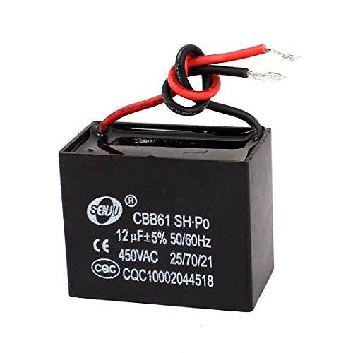 uxcell® AC 450V 12uF 5% 2-Wire Leads Ceiling Fan Motor Running Capacitor CBB61