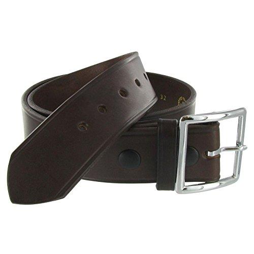 Boston Leather 1.75in. Garrison Leather Belt 56 Black