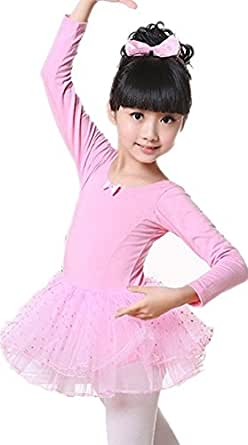 C.X Trendy Little Girls' Classic Cotton Dance Dress Leotard