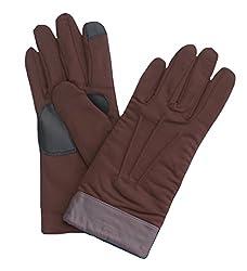Echo Design Women's Echo Touch Superfit Glove, Medium, Charcoal Brown
