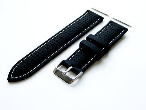 4 st ck gummi ergonomisch ersatzband armband mit pins stifte und edelstahl w lbung set f r. Black Bedroom Furniture Sets. Home Design Ideas
