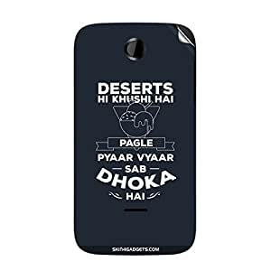 Skin4Gadgets Desert hi khushi hai Phone Skin STICKER for KARBONN A15