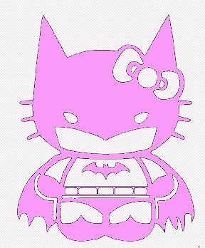 Hello Kitty Batgirl Batman Decal Vinyl Sticker|Cars Trucks Vans Walls Laptop| PINK |5.5 in|CCI435 (Hello Kitty Bows V Neck Top compare prices)