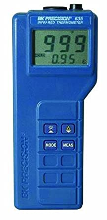 B&K Precision 635 Compact Digital Infrared Thermometer with Laser Pointer, -20 to 550 Degree C Range