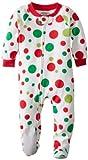 De Sara Prints Baby-Girls Infant Footed pijama, Big Dots de vacaciones, 12Meses Color: Big vacaciones Dots Tamaño: 12Meses infantil, bebé, niño