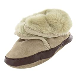 Robeez Soft Soles Cozy Boot (Infant/Toddler), Tan, 0-6 Months (1-2 M US Infant)