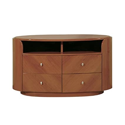 Global Furniture Emily/Evelyn Collection MDF/Wood Veneer Entertainment Unit, Cherry