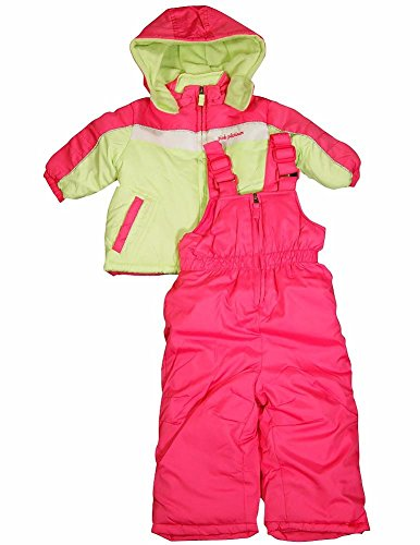 Pink Platinum - Baby Girls 2 Piece Snowsuit, Pink, Lime 34916-12Months front-852878