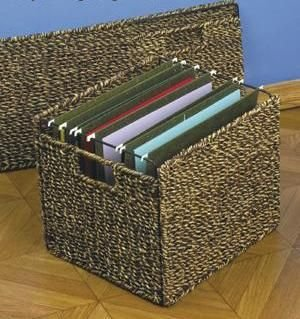Seagrass Two Tone Collapsible File