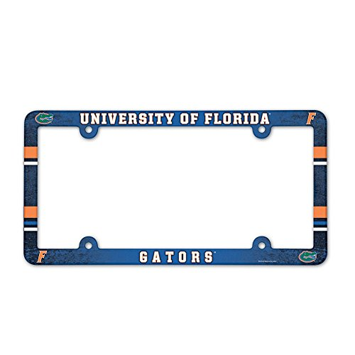 NCAA License Plate with Full Color Frame, Florida Gators (Gators License Plate Frame compare prices)