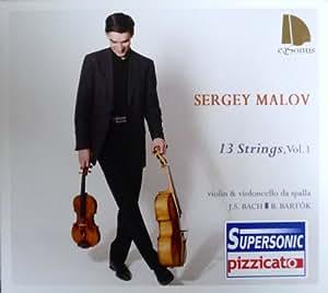 13 Strings, Vol. 1 - Bach Cello Suites 1007 & 1012 (gespielt auf violoncello da spalla) und Bartók Sonate für Violine Solo
