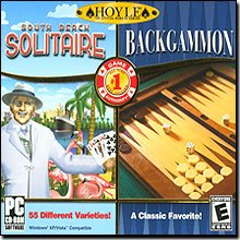 New Encore Software Hoyle Backgammon & Hoyle South Beach Solitaire 2 Game Pack Popular