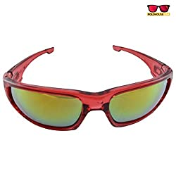 Polo House USA Men's Sunglasses ,Color-Red