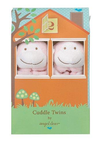 Angel Dear Cuddle Twin Set, Pink Monkey