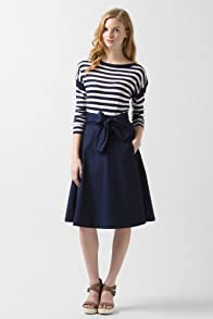 Mid-Calf Poplin Woven Circle Skirt