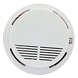 2X Battery Powered Fire Smoke Alarm Sensor Detector Tester Home Security System Cordless by Bositools