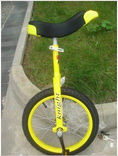 24 inches discoverer dream Taiwan knight professional competitive unicycle(yellow)