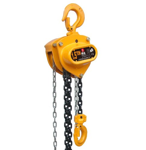 Harrington CB Series Steel Body Hand Chain Hoist with Slip Clutch, 15 Ton Capacity, 12' Lift Height, 10.5' Hand Chain Drop, 40.2