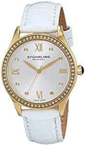 Stuhrling Original Women's 431.04 Vogue Analog Display Swiss Quartz White Watch