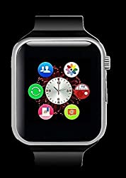 General AUX Smart Wrist Watch Touch Screen with Sim Card Slot (Black, Silver)