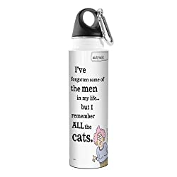 Tree-Free Greetings VB47834 Aunty Acid Artful Traveler Stainless Steel Water Bottle, 18-Ounce, Cats