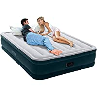 Intex Dura-Beam Series Elevated Comfort Airbed with Built-In Electric Pump