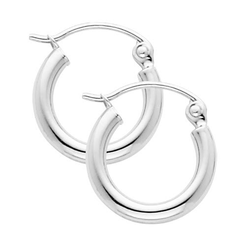 Thickness Classic Polished Earrings Diameter