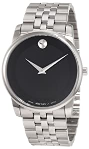 Movado Men's 0606504 Museum Stainless Steel Black Museum Dial Bracelet Watch from Movado