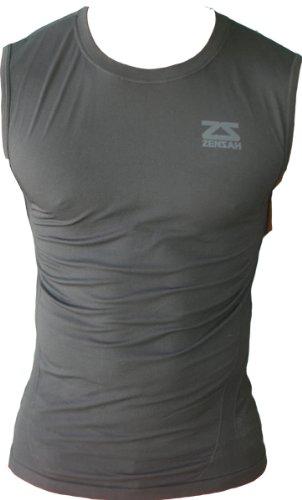 Zensah Unisex Adult Sleeveless Compression Shirt, Black, Small/Medium